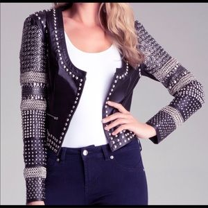 Bebe Leather Studded New/Tags Jacket Sz Small🔥🔥
